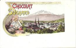 PUBLICITE - RECLAME - WERBUNG - Chocolat SUCHARD - Luzern - - Advertising