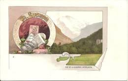 PUBLICITE - RECLAME - WERBUNG - Chocolat SUCHARD - Vue De La Jungfrau ( Interlaken ) - Advertising
