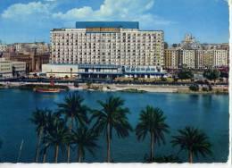 Egypte--LE CAIRE--Le Nil Et L´Hotel Hilton ,cpsm 10 X 15  N° 555  éd PUB EL KITAB EL GUEDID - Le Caire