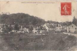 45 CHATILLON Sur LOIRE Belle Vue Prise Du CANAL Route MAISONS Du Village 1907 - Chatillon Sur Loire