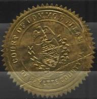 Sceau D´une Cour Du Comté De Fayette (USA) - Historical Documents
