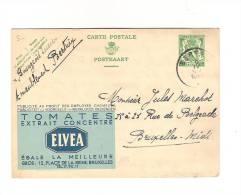 Publibel Obl. N° 195 (Tomates ELVEA  La Meilleure) Obl: BERTRIX 05/04/1935 - Stamped Stationery