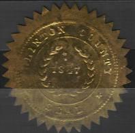 Sceau Du Comté De Clinton De 1847 (USA) - Documents Historiques