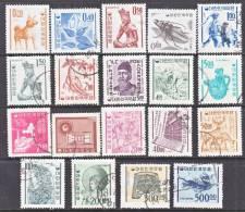 Korea 360a- 74a   Granite Paper  *  (o)   1964-6  Issue - Korea, South