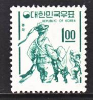 Korea 517  **    Granite Paper No Wmk. 1966 Issue - Korea, South