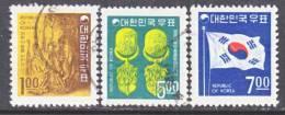 Korea 595-7  (o)   1968 Issue - Korea, South