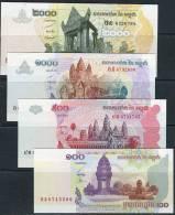 Cambodia 2001-2007 100 Riel--2000 Riel 4v - Cambodia