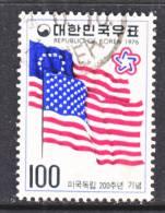 Korea 1034   (o)  AMERICAN  BICENTENNIAL  FLAGS - Korea, South
