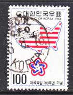 Korea 1036   (o)  AMERICAN  BICENTENNIAL  MAP - Korea, South