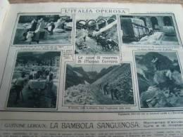 MATTINO ILLUSTRATO 1925 CAVE DI MARMO MASSA CARRARA MATILDE SERAO ANNO SANTO SALUDECIO FORLI' MON. AI CADUTI - Livres, BD, Revues