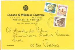 VILLANOVA CANAVESE  10070  PROV. TORINO  - ANNO 1982  - LS  - STORIA POSTALE DEI COMUNI D´ITALIA - POSTAL HISTORY - Affrancature Meccaniche Rosse (EMA)