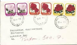 1979 2 X 1 Cent Rose, 2 X 2 Cent Rose & 2 X 4 Cent Overprinted Roses Auckland 28 Dec 1979 Addressed - New Zealand