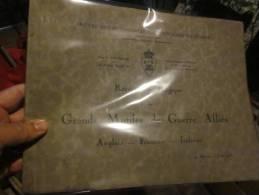 BELGIQUE - 1935- ASSOCIATION A.I.G. GRANDS MUTILES DE GUERRE ANGLAIS FRANCAIS ITALIENS 1935 - Books, Magazines, Comics