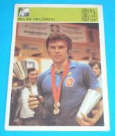 TABLE TENNIS  - Milan Orlowski , Czech Republic ( Yugoslavia Vintage Card - Svijet Sporta ) Tennis De Table Tischtennis - Table Tennis