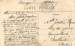 CACHET HOPITAL MILITAIRE  DAME FRANCAISE  CHAUMONT - Marcophilie (Lettres)