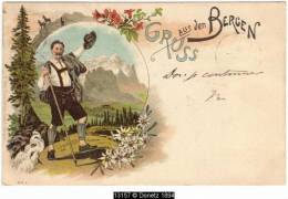 13157g BERGEN - Thusis - 1896 - Illustrateurs & Photographes
