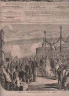 L´UNIVERS ILLUSTRE 20 09 1860 - NICE - ETALONS OFFERTS A NAPOLEON III PAR L'EMPEREUR DE RUSSIE - ADORATION MAGES RUBENS - Journaux - Quotidiens