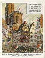 Dessin Hansi - Alsace Strasbourg - Affiche D'emprunt Défense Nationale (guerre 14-18) Panini Image Autocollante - Panini