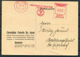 1941 Germany Pied Piper Of Hamlin Freistempel Card - Fairy Tales, Popular Stories & Legends