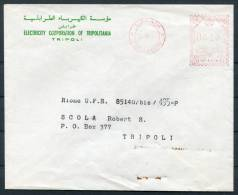 1963 Libye Electricity Corporation Of Tripolitania Metermark Cover - Libya