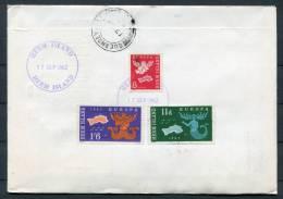 1962 Herm Europa Guernsey Registered FDC - Guernsey