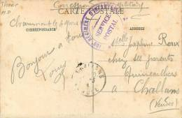 CACHET MILITAIRE 109 REGIMENT D INFANTERIE   CHAUMONT - Cartes De Franchise Militaire