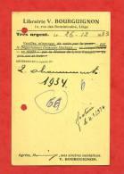 * BELGIQUE-LIEGE-Librairie V.BOURGUIGNON,16 Rue Des Dominicains(Vieux Papiers, 1934) - Amay