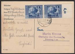 DR 823(2) Postillion Vor Europakarte Mit Aufdruck 19. Okt. 1942 St. Klingenberg (Bz Dresden) - Deutschland
