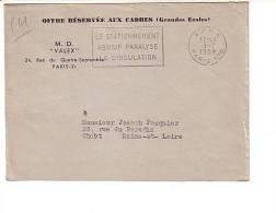Port Payé PP Paris 108 Stationnement Abusif Paralyse La Circulation - 1921-1960: Periodo Moderno