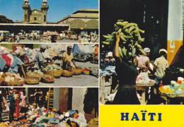 AMERIQUE,ANTILLES,HAITI,i Le  Hispaniola,,ile Découvert Par Christophe Colombe,PORT AU PRINCE,banane,marché,méti Er - Haïti