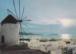 GRECE,GREECE,GRECIA,GRIECHENLAND,MYKONOS,MYCONOS,I LE DU NORD DES CYCLADES GRECQUES,mer égée,moulin - Grèce