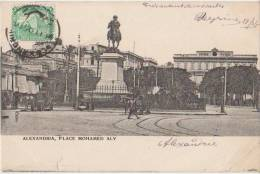 CPA EGYPTE EGYPT ALEXANDRIE Place Mahamed Ali Pacha Timbre Stamp 1905 - Alexandria