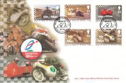 "ISLE OF MAN 769-73 ""Tourist-Trophy-Motorradrennen"" Schmuck-FDC - Isle Of Man"