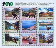 Kyrgyzstan 2011 National Parks Fauna Birds Fish Bear Biodiversity Minisheet  MNH - Timbres