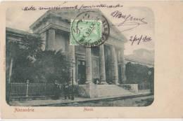 CPA EGYPTE EGYPT ALEXANDRIE ALEXANDRIA Le Musée Timbre Stamp 1904 - Alexandrie