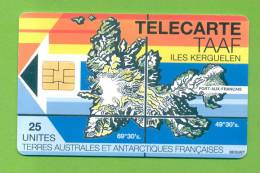 """TAAF: TAAF-02 """"Map Of Kerguelen Island"""" Rare (1.500ex) (1994) - TAAF - French Southern And Antarctic Lands"""