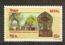NEPAL, 1988, Pokhara Temple, Religion, Hinduism,  MNH, (**) - Glaube, Religion, Kirche