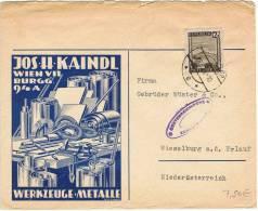 L-AUT-16 - Belle Lettre Commerciale Avec Cachet De Censure Autrichien à Destination De Wieselburg - 1918-1945 1ère République