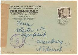 L-AUT-18 - Belle Lettre Commerciale Avec Cachet De Censure Autrichien Et Obl. De Rothenthurm - 1918-1945 1ère République