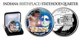 "USA - 2009 - MICHAEL JACKSON ""KING OF POP"" COLORIZED QUARTER DOLLAR - UNC - United States"