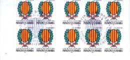 Andorra 2001 Sant Juli `a De L`oria Booklet Pane Of 10 Used - Lot. A270 - Andorra Francese