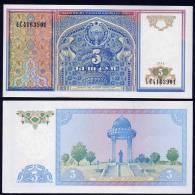 UZBEKISTAN : Banconota 5 Sum - 1994 - P75  - FDS - Uzbekistan