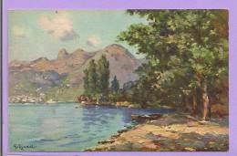 Montreux-Territet - Caux Et Les Rochers De Naye   - Illustrateur DJAKELI - Illustrateurs & Photographes