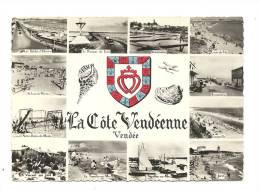 Cp, 85, La Côte Vendéenne, Multi-Vues, Voyagée 1966 - France