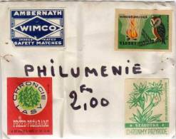 Philuménie - 4 étiquettes De Boites D' Allumettes - 49076) - Boites D'allumettes - Etiquettes
