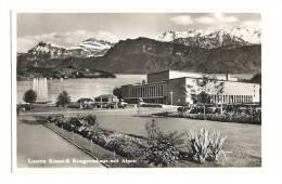 Cp, Suisse, Luzern Kunst, & Kongresshans Mit Alpen - LU Lucerne