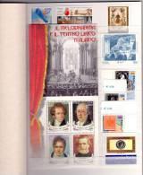 2001 Annata Veramente Completa Con FOGLIETTI (compreso Roma), LIBRETTO E FRANCOBUSTA. FACCIALE. - Años Completos