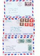 L-CAN4 - Lot De 3 Lettres Par Avion - 1952-.... Règne D'Elizabeth II