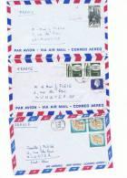 L-CAN5 - Lot De 3 Lettres Par Avion - 1952-.... Règne D'Elizabeth II