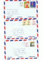 L-CAN6 - Lot De 3 Lettres Par Avion - 1952-.... Règne D'Elizabeth II
